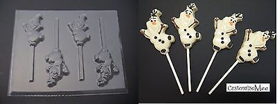 FROZEN Snowman OLAF Chocolate Candy Soap Lollipop Mold