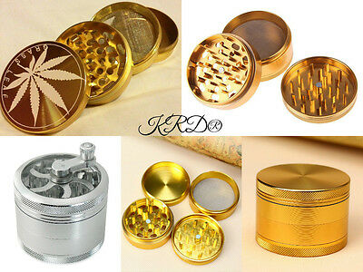 Herb 40MM Grinder Crusher Metal Pollinator Magnetic 3 4 5 Part Mill Mesh Cut UK
