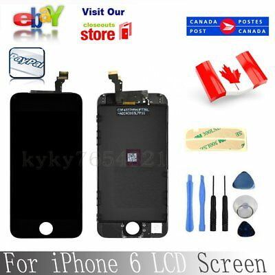 """For iPhone 6 4.7"""" LCD Touch Display Assembly Replacement Black"""