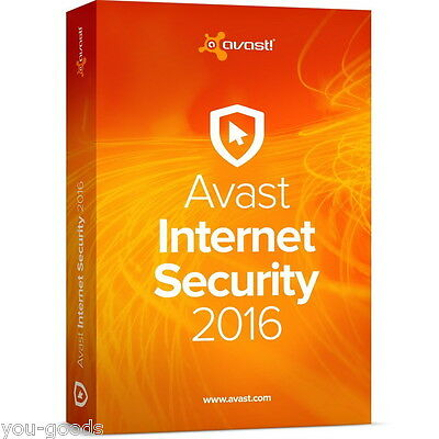 AVAST INTERNET SECURITY 2017/2016 - 1 YEAR(365days) FOR 1PC ESD (ALL LANGUAGE)