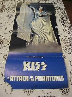 1978 KISS ATTACK OF THE PHANTOMS ACE FREHLEY MOVIE POSTER RARE VINTAGE AUCOIN