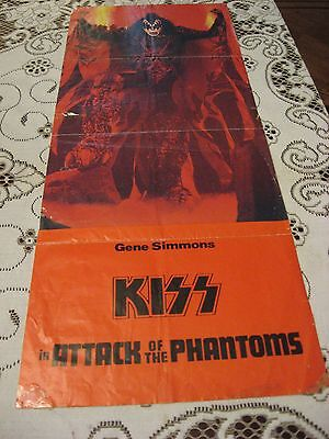 1978 KISS ATTACK OF THE PHANTOMS GENE SIMMONS MOVIE POSTER RARE VINTAGE AUCOIN