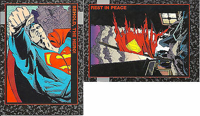 1992  DC Comics Doomsday the Death of Superman Complete 90 Card Set + 10 Extras