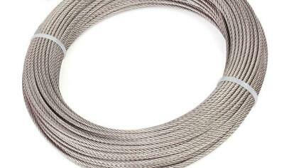 """5/64"""" 2mm 304Stainless Steel Cable Wire Rope 7x19 5m"""