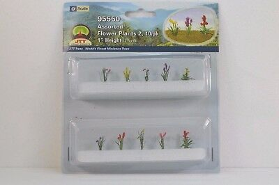 """JTT Scenery Assorted Flower Plants2 10/pk 1"""" Height O Scale 95560 NEW"""