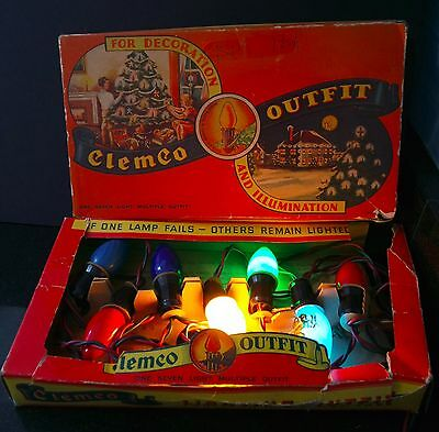 Vintage Clemco Outfit Mazda Lamps GE with Original Box Beautiful Graphics 1935