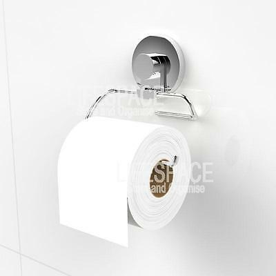 NEW Xpressions Suction Toilet Roll Holder Stainless Steel for Bathroom Ensuite