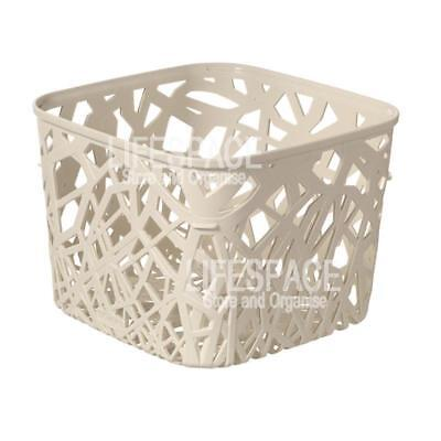 Curver Neo Basket Square Off-White for Office Bathroom Laundry Kitchen NEW