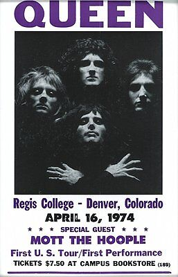 0382  Vintage Music Poster Art - Queen In Colorado Live
