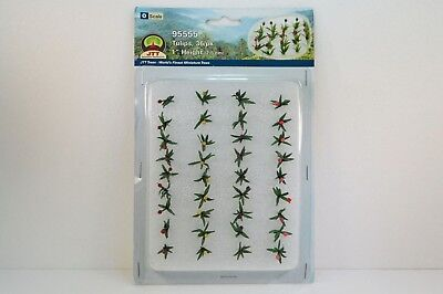 """JTT Scenery Tulips 36/pack 1"""" Height O Scale 95555 NEW"""