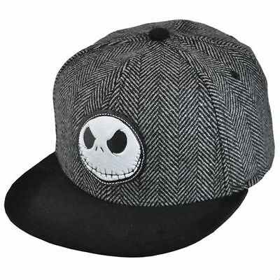 Disney's Nightmare Before Christmas Jack Skellington Herringbone Cap Hat  OSFM