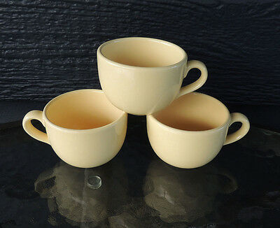 3 Yellow Secla Expesso Cups Made in Portugal