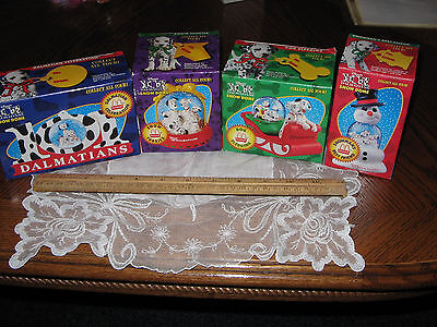 1996 Complete Set of 4 McDonalds 101 Dalmations Snow Domes, New in Box