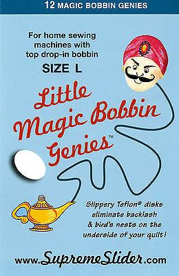 Little Magic Bobbin Genies-Washers for Top Drop-in Bobbin  Size L