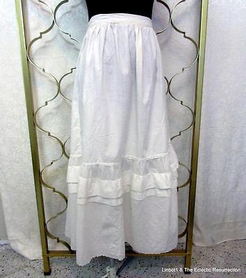 "Vintage Edwardian Era Petticoat Slip Under Skirt Eyelet Large 36"" waist"