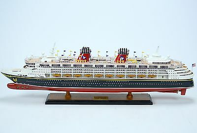 """Disney Wonder Cruise Ship Collectible 32"""" - Handcrafted Wooden Ship Model NEW"""