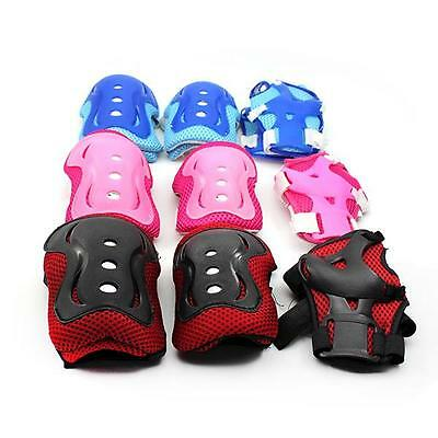 3X Roller Skating Cycling Wrist Elbow Knee Protector Gear Pad for Child Kids Boy