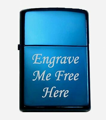 """Custom """"SAPPHIRE"""" ZIPPO Lighter with Free Engrave  Gift Idea"""