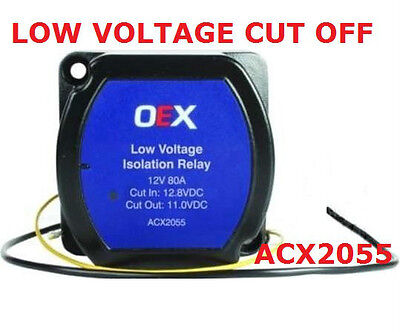 Low Voltage Cut Off Relay 80A (On 12.8V+-0.1) (Off 11.0V+_0.1) Acx2055 Relay