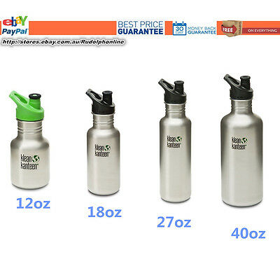 New original Klean Kanteen Classic Brushed Stainless Steel water travel bottle