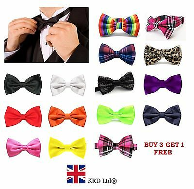 Mens Pre Made BOW TIE Wedding Party Fancy Tartan Necktie Ties Burns Night UK B3
