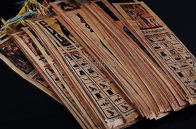 SALE Lot Of 40 Ancient Egyptian Authentic Large Hand Made Papyrus Book Marks
