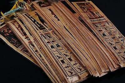 SALE Lot Of 20 Ancient Egyptian Authentic Large Hand Made Papyrus Book Marks