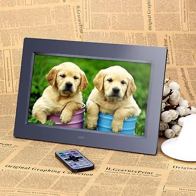 "10""TFT-LCD HD Digital Desktop Remoto FOTO Photo Frame Sveglia MP3 MP4 Player"
