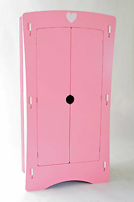 Children's 2 Door Heart Wardrobe in Pink Effect