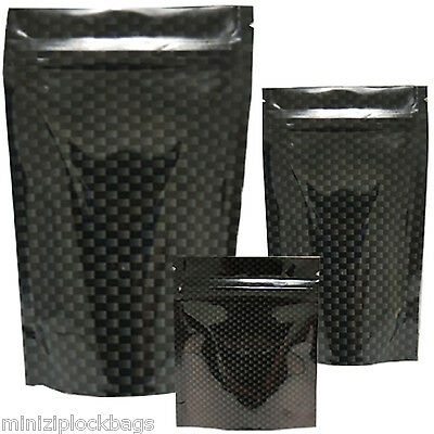 Quality Smell Proof Waterproof Battle Shield Stealth Black Carbon Large 5 Bags
