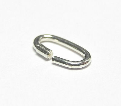 8mm Sterling Silver Link Lock Lockable Ring Joint .925 Charms Pack 10 - FJ208