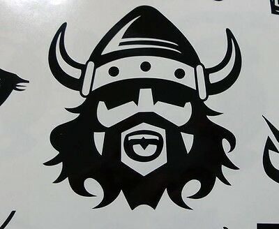 Viking Nordic helmet head norse Vinyl die cut decal sticker