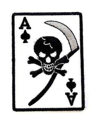 Ace Of Spades Death Card Embroidered Military Patch Iron Sew AKPM179