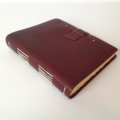 RUSTICO Travelers' Journal Leather Journals Diary Notebook Gifts Burgundy Buckle