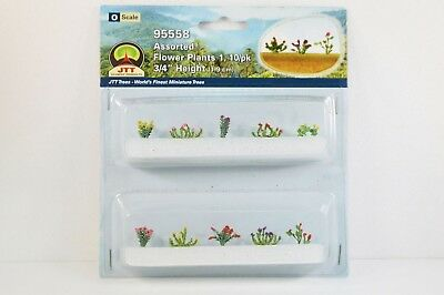 """JTT Scenery Assorted Flower Plants1 10/pk 3/4"""" Height O Scale 95558 NEW"""