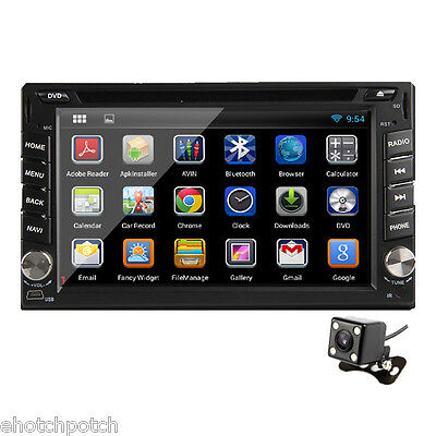In Dash 2 Din Android 4.2 Car GPS Navigation DVD Player iPod Radio BT SD+Camera