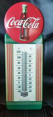 Coca Cola thermometer metal sign