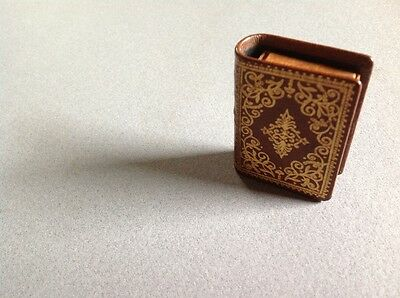 Antique Leather MatchBook Looks like a real mini Book