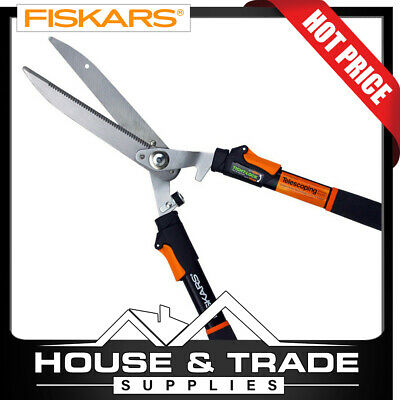 Fiskars Hedge Shears Telescopic Handles Power Lever Garden 9169