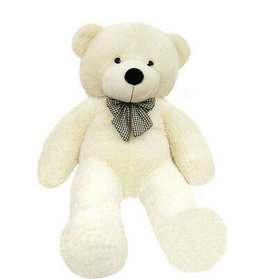 Top GIANT 80CM BIG CUTE Beige PLUSH TEDDY BEAR HUGE WHITE SOFT 100% COTTON TOY