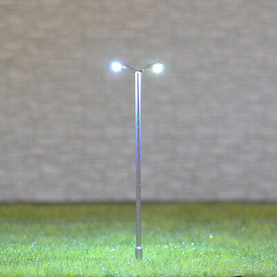 15 pcs HO scale Lamppost white SMD LEDs made Cold Light NO melt Long life #TD55D