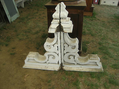 "HUGE PaiR c1880 FANCY victorian era PORCH OVERHANG CORBEL bracket 39"" x 24"" x 10"