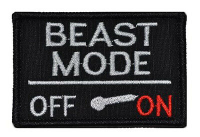 BEAST MODE Hook and Loop PATCH MILITARY MORALE TACTICAL COMBAT BADGE SWAT