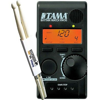 TAMA RW30 Rhythm Watch Mini RW-30 + KEEPDRUM Sticks 1 Paar