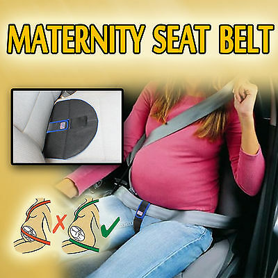 PREGNANCY MATERNITY SEAT BELT DRIVING SAFETY BABY SUPPORT BELLY BAND Blue