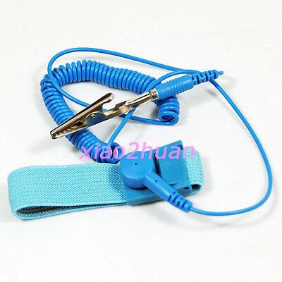 Bule 1.8m Anti-Static ESD Adjustable Wrist Strap Discharge Band Grounding