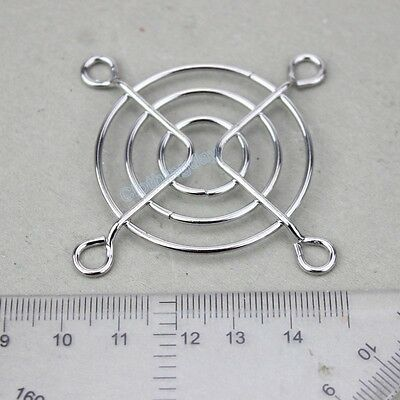 2pcs Lot mini 50mm Metal silver Wire Grill Finger Guard Protection for 5cm fan