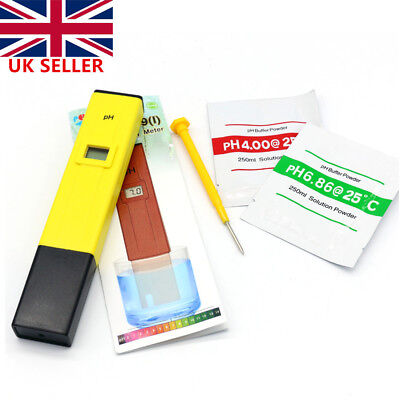 Digital ATC PH Meter Water Hydroponics Pen Aquarium Pool Tester +Powder +Battery