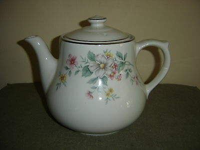 Vintage Hall's Superior Quality Ovenware Coffee Pot Springtime Pattern