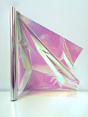 Cellophane Iridescent 1m Length FOLDED 50cm Wide Rainbow Effect Gift Wrapping